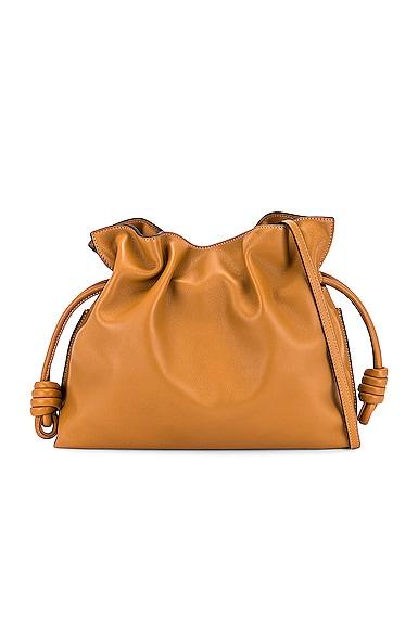 Loewe Flamenco Clutch Bag in Tan