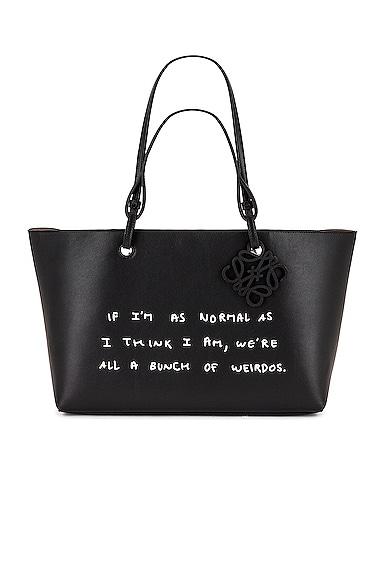 Loewe Joe Brainard DH Words Tote Bag in Black