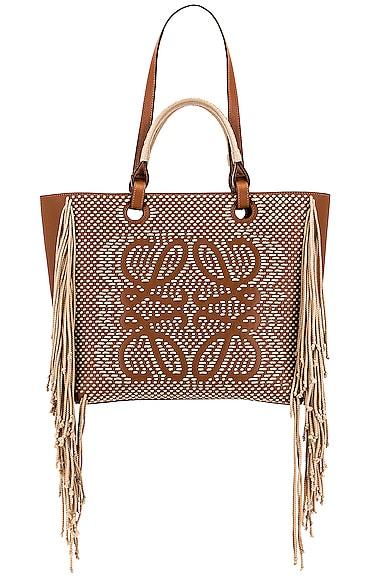 Loewe Anagram Cord Tote Bag in Tan