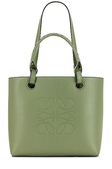 Loewe Anagram Tote Small Bag in Sage