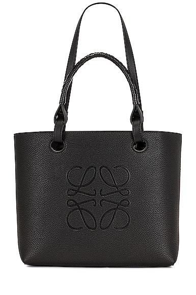 Loewe Anagram Tote Small Bag in Black