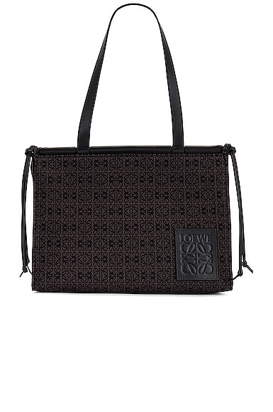 Loewe Cushion Anagram Small Tote Bag in Black