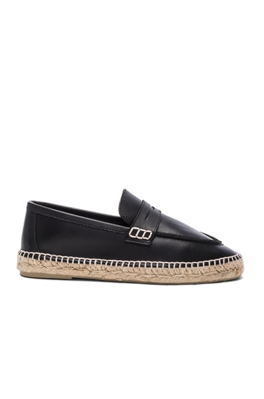 Leather Loafer Espadrilles