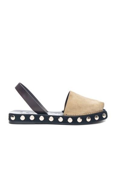 Suede Slingback Stud Sandals