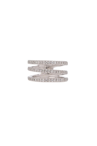Triple Pave Band Ring