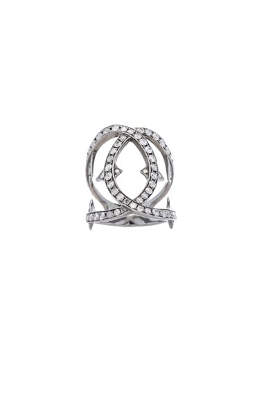 Spiked Diamond Loop Ring