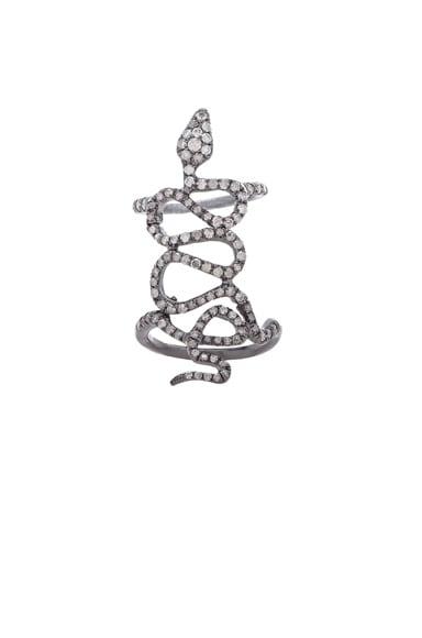 Skinny Pave Baby Snake Ring