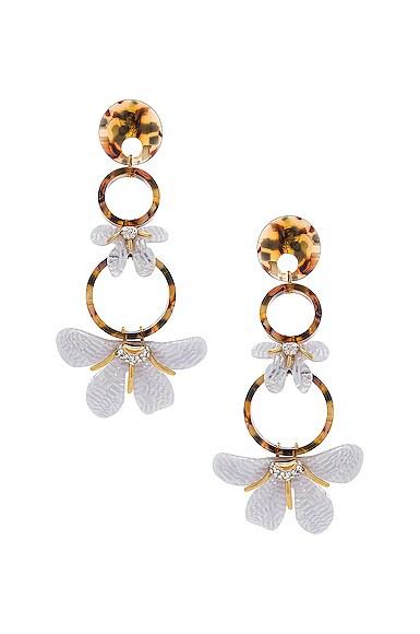 Trumpet Lily Chandelier Earrings