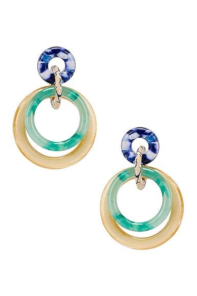 Double Ring Hoop Earrings