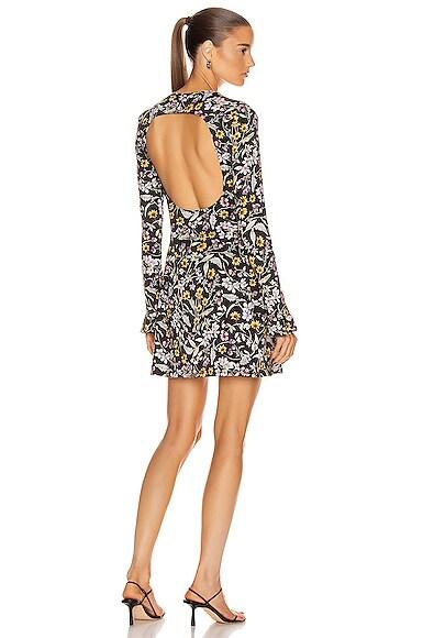 Open Back Long Sleeve Mini Dress