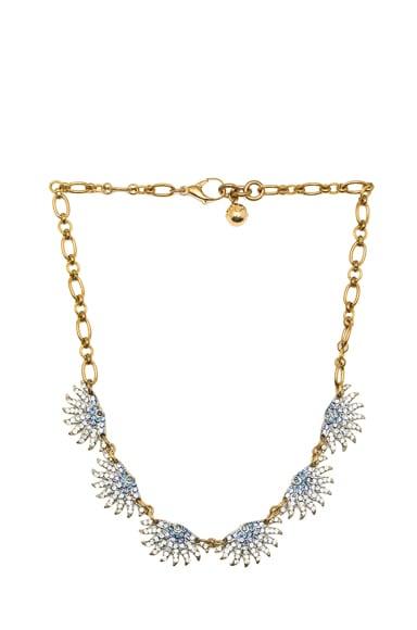 Sunburst Collar Antique Brass Necklace