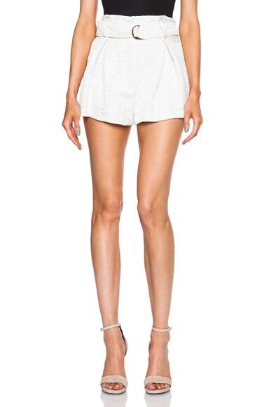 Lover hero wrap shorts in ivory fwrd