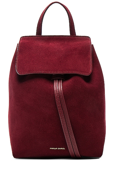 Mini Backpack in Rococo Suede