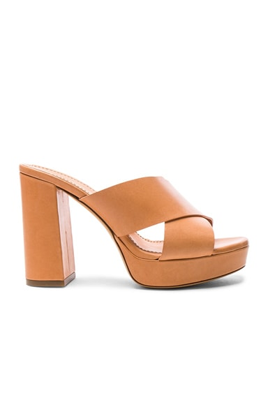 Leather 100mm X Strap Heels