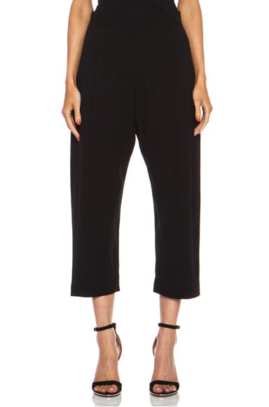 Cropped Viscose-Blend Satin Trouser