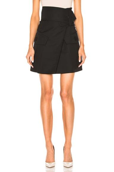 Wool Gabardine Skirt