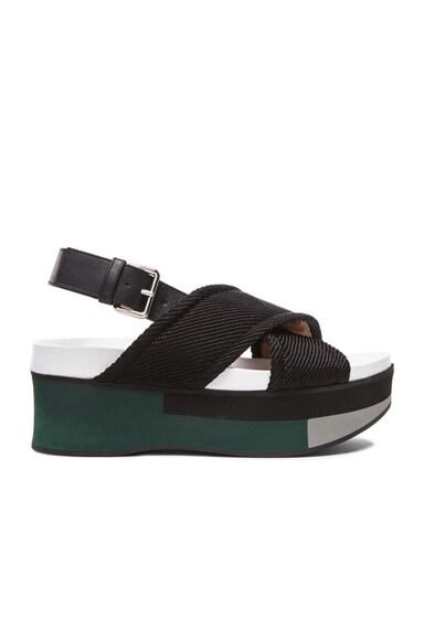 Leather Sandal Wedges