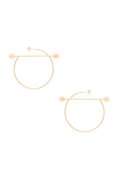 14 Karat Solar Earrings