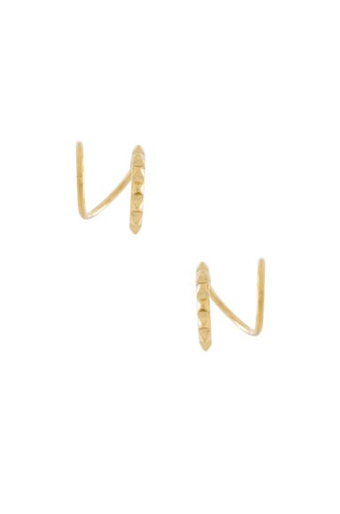 14 Karat Klaxon Twirl Earrings