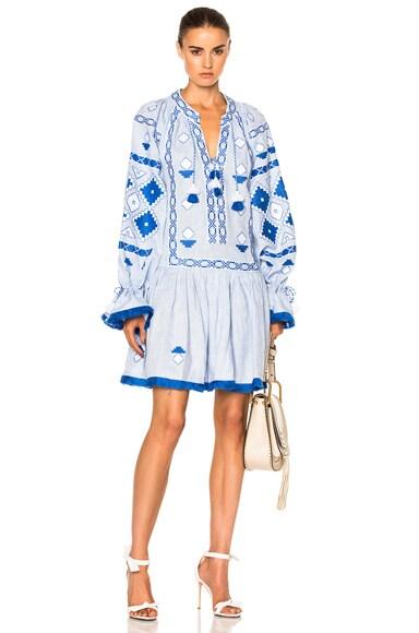 Sasha Embroidered Mini Dress