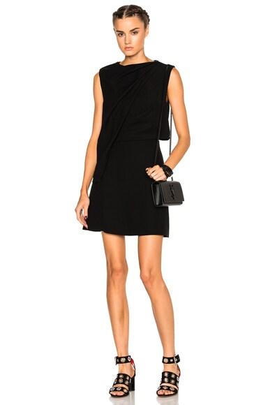 Shawl Drape Mini Dress