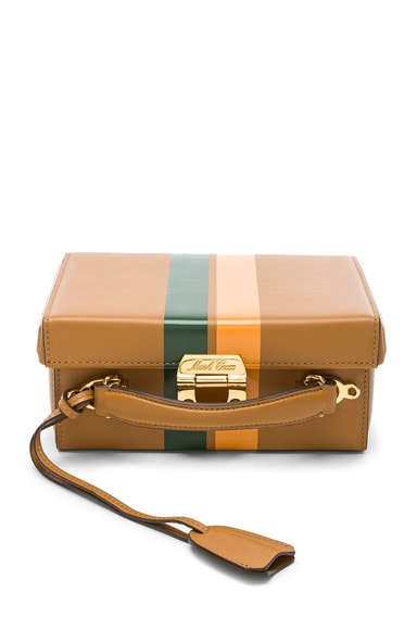 Small Smooth Calf Stripe Grace Box Bag