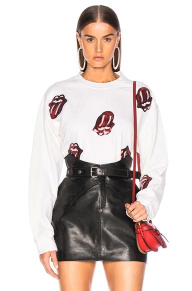 Rolling Stones Sequins Crew Fleece