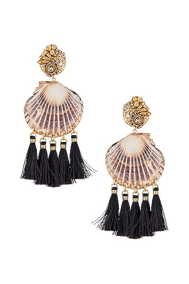 Fiesta Shell Tassel Earrings
