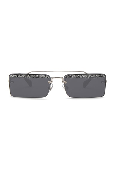 Embellished Skinny Square Sunglasses
