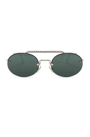 Embellished Oval Sunglasses