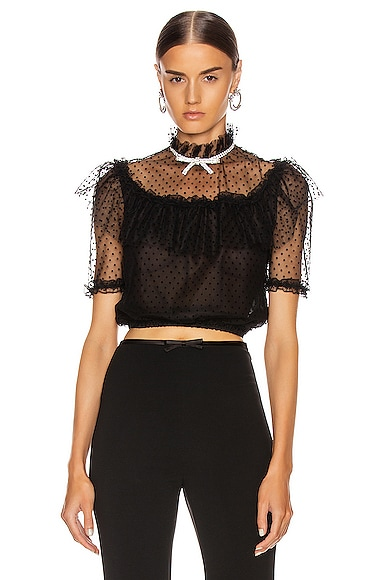 Tulle Crop Blouse