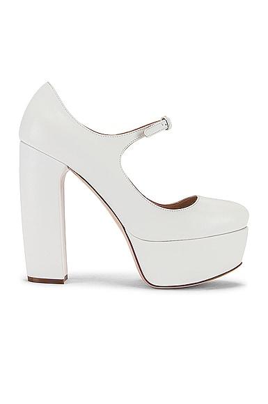 Plain Mary Jane Platform Heels