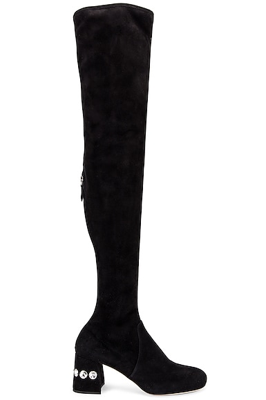 Jeweled Over the Knee Boots