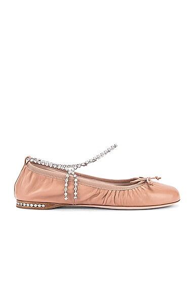 Leather Ballerina Flats