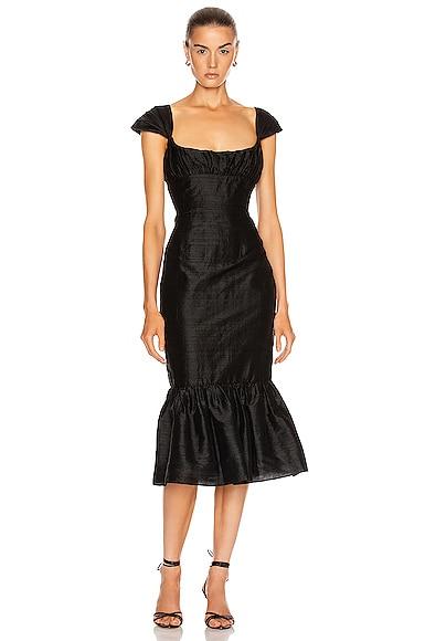 Mondella Ruched Flounce Dress