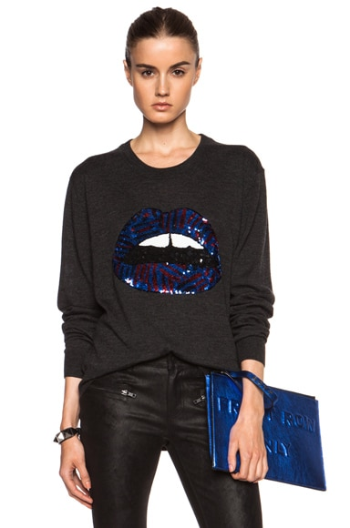 Sequin Lip Joey Wool Sweater