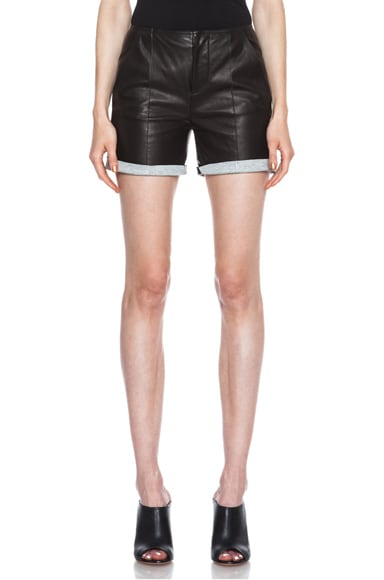 Lambskin Leather Shorts