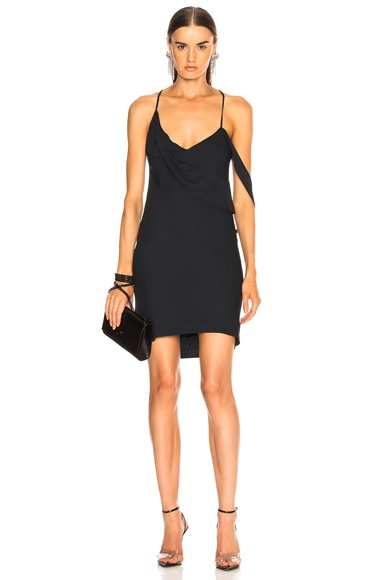 for FWRD Mini Dress with Draped Cowl Neck