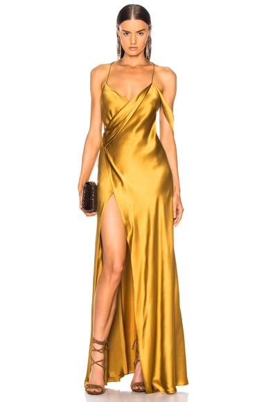 Strappy Cowl Wrap Gown