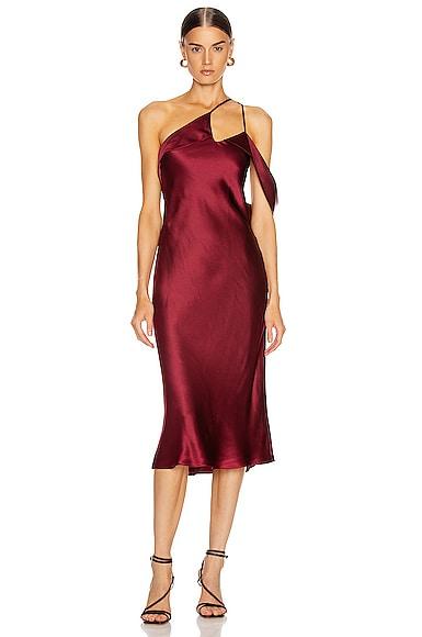 Midi Dress with Arm Drape