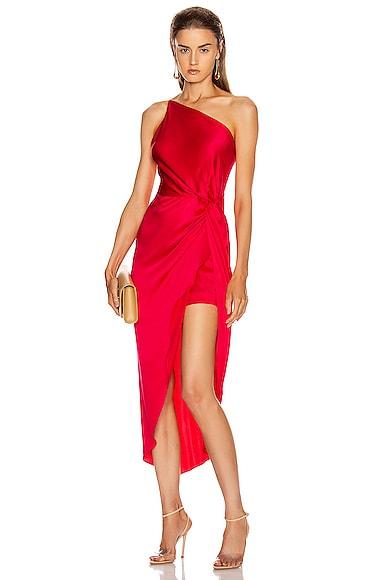 for FWRD Twist Knot Midi Dress