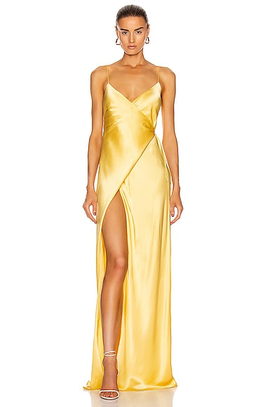 for FWRD Strappy Wrap Gown