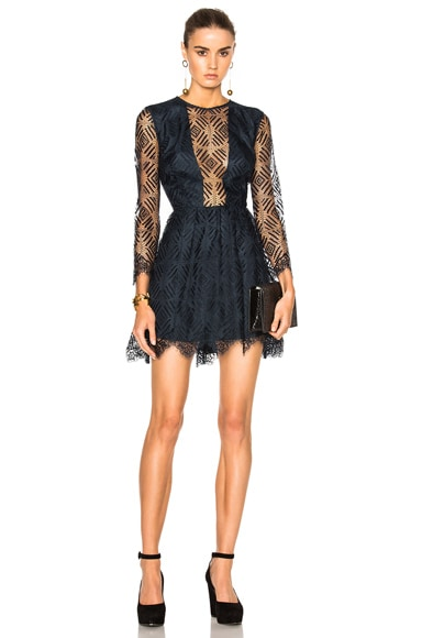 Lace Mini Dress Carbon