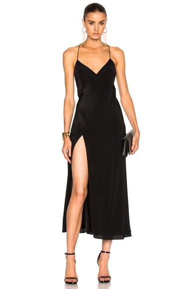 Strappy Wrap Midi Dress