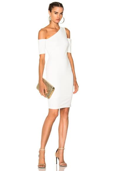 Asymmetrical Cold Shoulder Dress