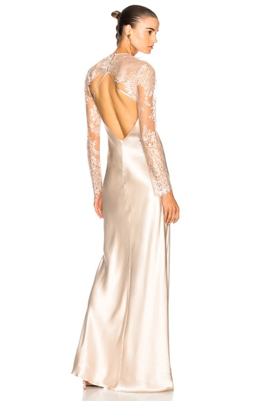 Bias Gown with Lace Shrug
