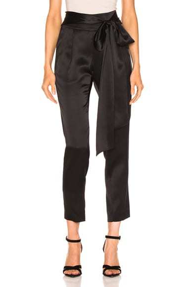 Pleat Pant With Tie