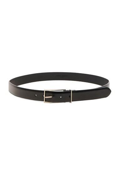 Bright Calf Leather Belt
