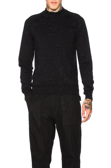 Herringbone Detail Jersey Sweater