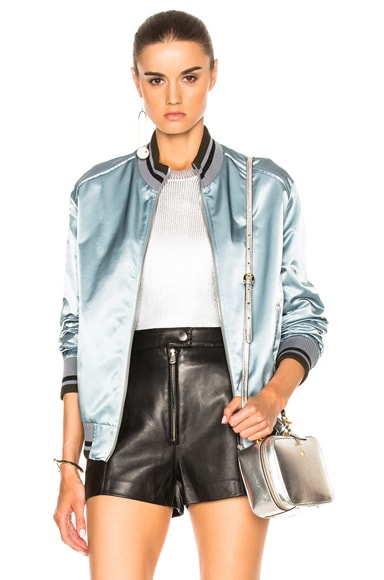 Nylon Satin Bomber Jacket